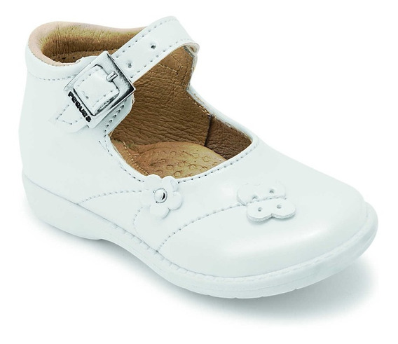 Zapato Casual Bebe Blanco Charol Peques Shoes 1453