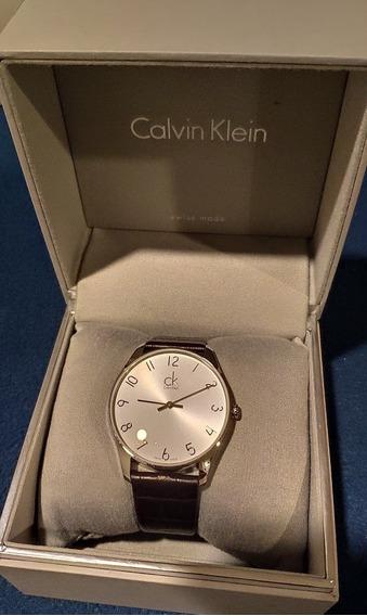 Reloj Calvin Klein Caballero Caja Acero Correa Cuero