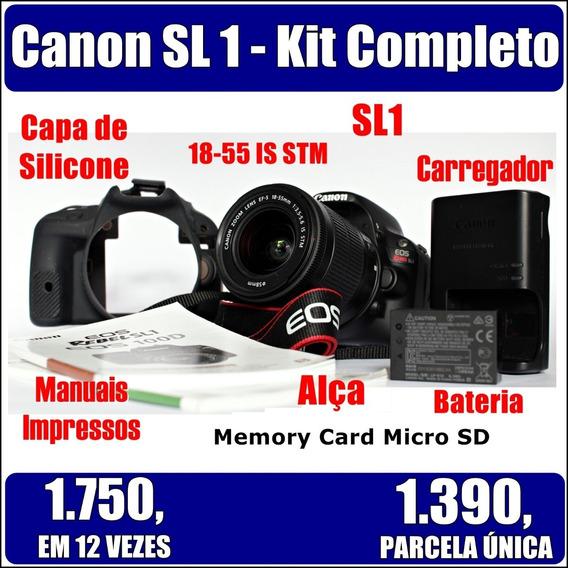 Canon Sl1 Novíssima - 1.150 Clicks - Kit Completo (mini T5i)