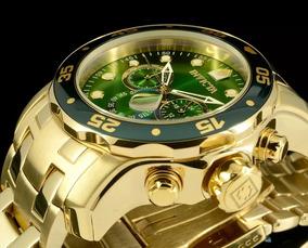 Relógio Invicta Pro Diver 21925 0075 Banhado Ouro Original