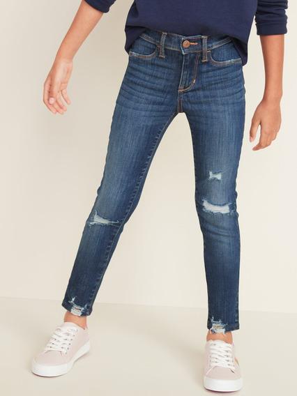 Pantalón Niña Jeggings Jeans Mezclilla Desgastados Old Navy
