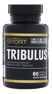 Tribulus Terrestris 1000mg 60 Tabs. 45% Saponinas Importado