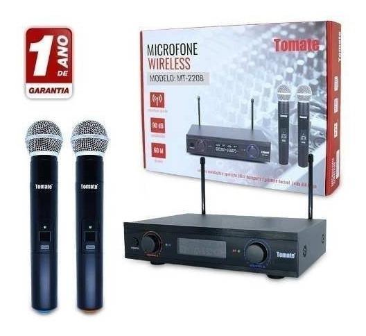 Microfone Duplo Sem Fio Wireless Uhf Profissional Ideal Igrejas Palestras Escolas Eventos Alcançe De 60 Metros Promoção