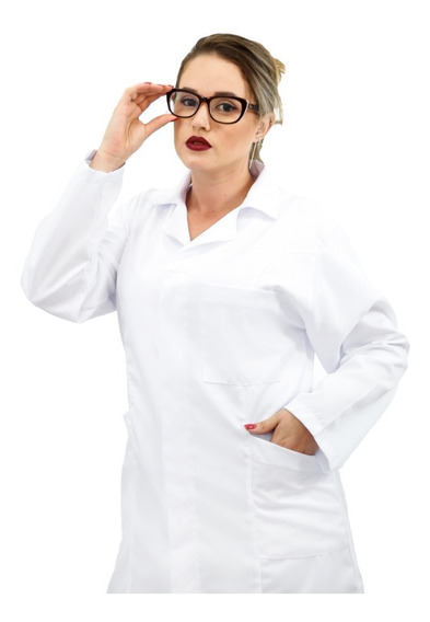 Jaleco Feminino Gabardine Médica Veterinária, Enfermagem 11