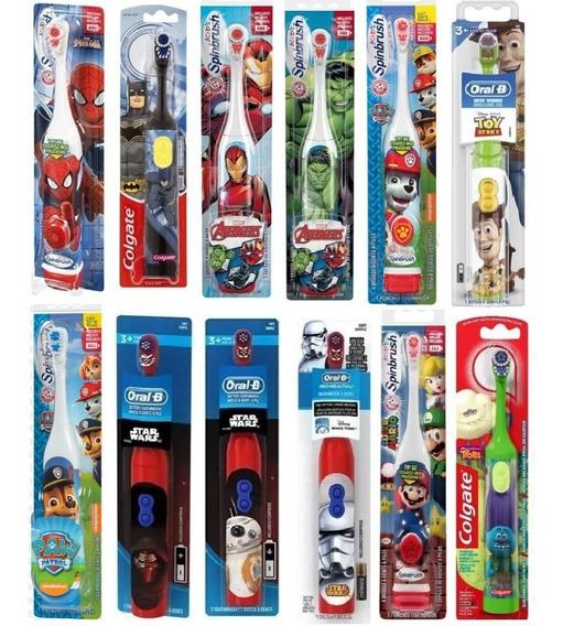 Escova De Dente Elétrica Infantil Meninos Vários Personagens
