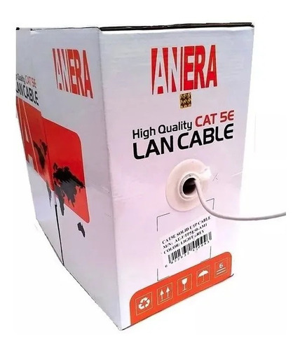 Cable Utp Categoria 5e Anera 20/80 Red Camaras 305 Metros