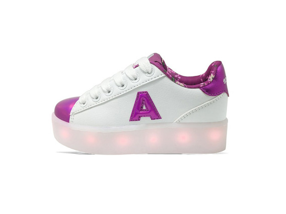 Zapatillas Addnice Polonia Led Blanco Niño