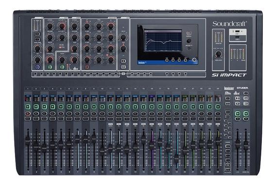 Mesa De Som Digital Soundcraft Si Impact (32 Canais/usb)