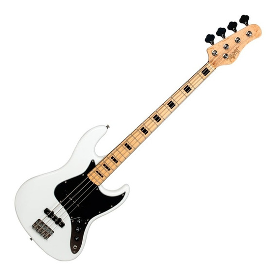 Contrabaixo Baixo Jazz Bass Tagima Tjb4 Branco 4 Cordas