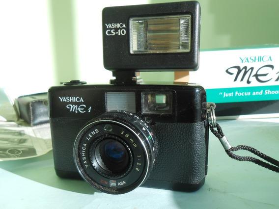 Câmera Fotográfica Yashica Me 1 Usada Na Emb. C/ Flash,etc