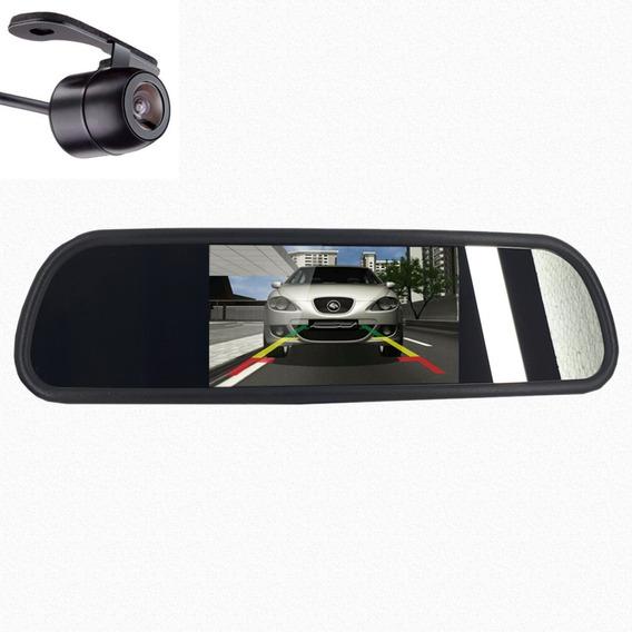 Retrovisor Espelho Interno Monitor + Câmera De Ré