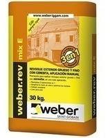 Weber Revoque Mix Exterior 3 En 1 X30 Kg. Aplicación Manual