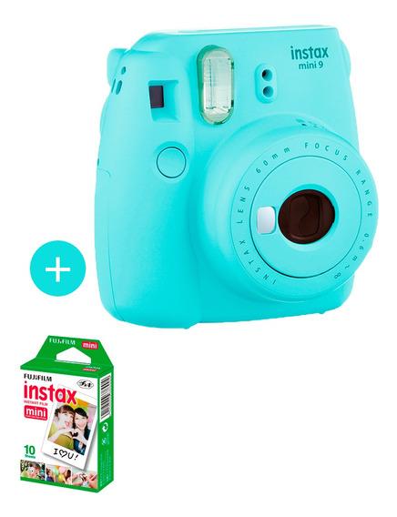 Câmera Instax Mini 9 Azul Aqua + 10 Fotos