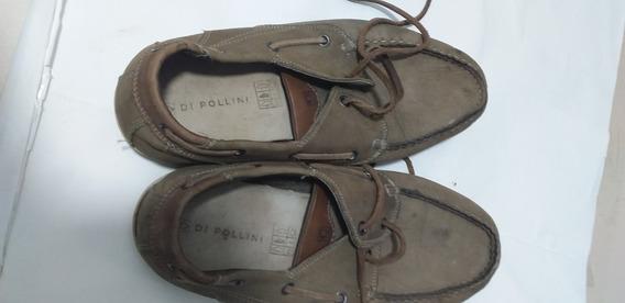 Sapato Di Pollini De Couro