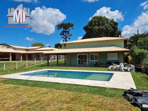 Linda Chácara Em Construção, Com Escritura, 3 Dormitórios, Piscina, À Venda, 1000 M² Por R$ *495.000* - Zona Rural - Pinhalzinho/sp - Ch0821