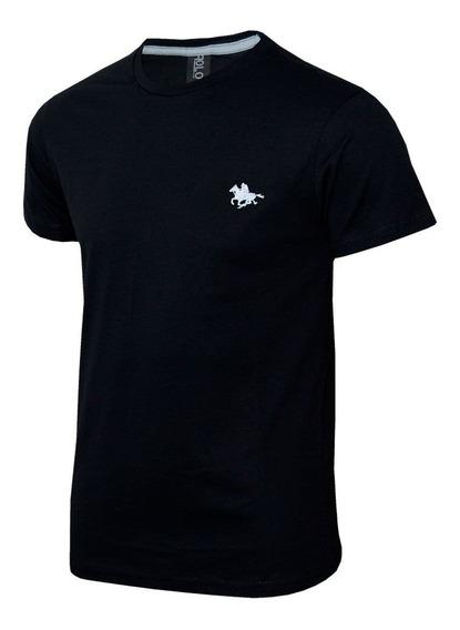 Camisetas Masculinas Básica Polo Com Logo Bordado 12048