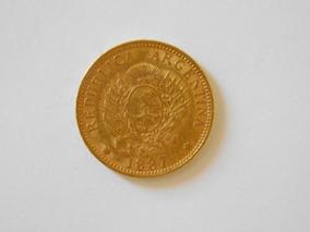 Moneda Argentino De Oro Argentina Año 1887 Peso 8 Gramos