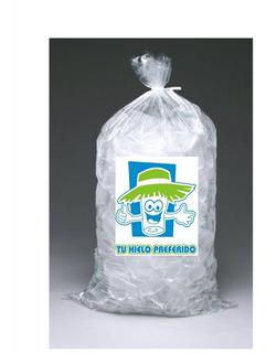 Bolsas Para Hielo Impresas Con Logo Genérico X 100 Para 2kg