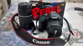 Canon T3i 600d Completa + 2 Lentes 18/55mm E 75/300mm.