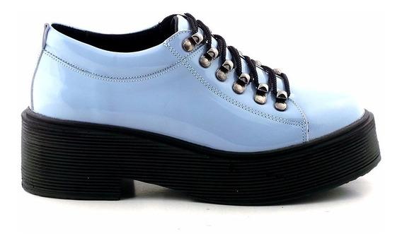 Zapato Abotinado Mujer Cuero Briganti Charol Mccz03407 Ch