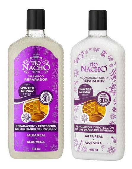 Combo Tio Nacho Winter Repair Edicion Invierno Shampoo Y Aco