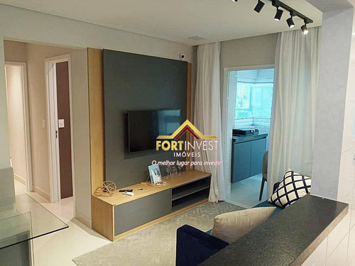 Apartamento Com 2 Dormitórios À Venda, 58 M² Por R$ 365.000,00 - Canto Do Forte - Praia Grande/sp - Ap1901