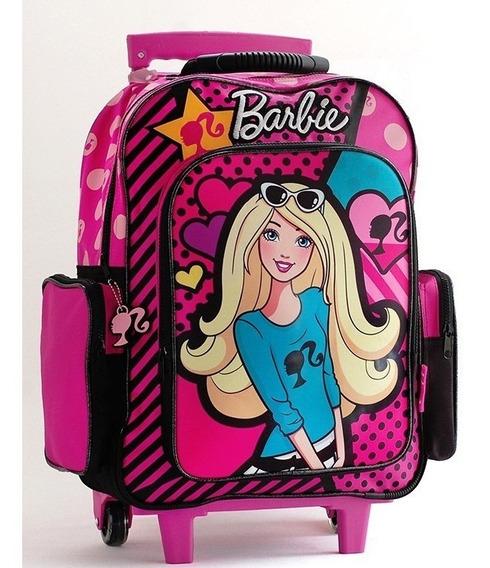 Mochila Barbie Dots Con Ruedas