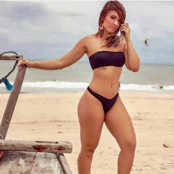 Biquini Kim Kardashian Verão Moda Praia Tomara Que Caia