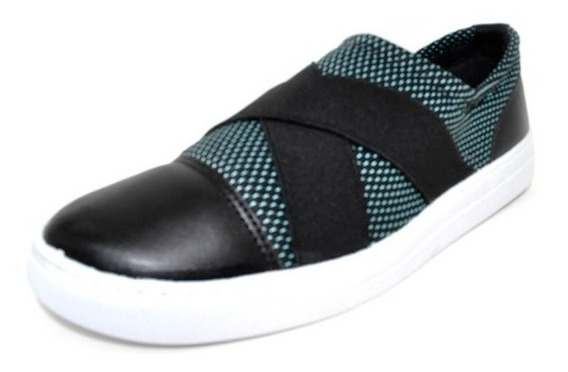 Sapatos Femininos Tenis Slipper Ortopedico Verde Dani K