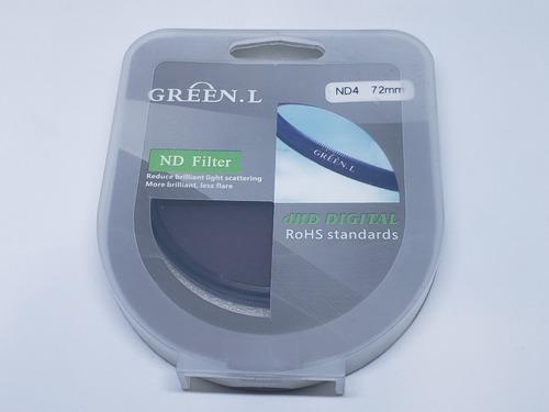 Imagem 1 de 2 de Filtro Lente Nd4 - 72mm - Green. L - Densidade Neutra