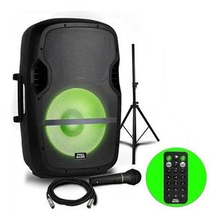 Bafle Potenciado 15 Pro Bass Elevate Soporte Microfono 2000w