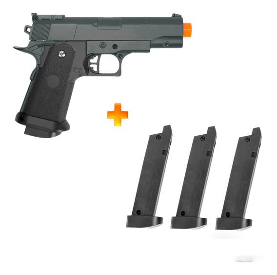 Pistola De Airsoft Spring G10 + 3 Carregadores