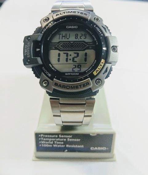 Relógio Casio Com Altímetro E Barômetro, 100 Atm