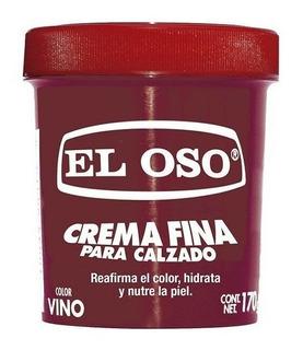 Crema Fina Zapatos Vino Miel Azul Café Negra El Oso 170gr