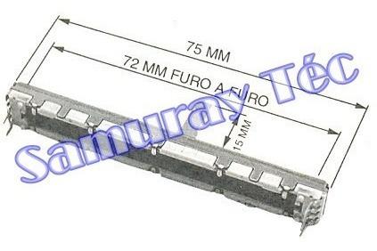 5 Potenciometro Fader Especial P/ M, Yamaha Mg124cx, Mg16cx