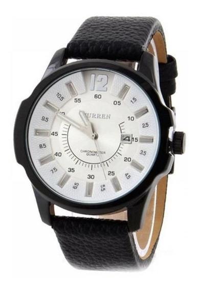Relógio Masculino Social Curren Analógico 8123 Branco