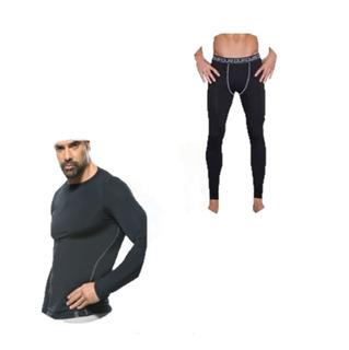 Conjunto Termico Hombre Camiseta + Boxer Largo