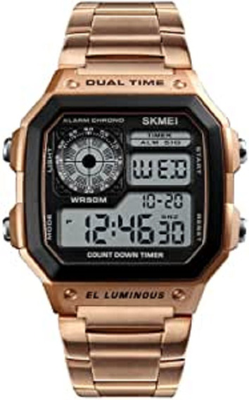 Skmei Reloj Unisex Metálico, Digital, Deportivo, Retroilumin