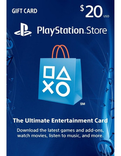$20 Psn Tarjeta Playstation Ps4 Ps3 Store Usa [digital Code]