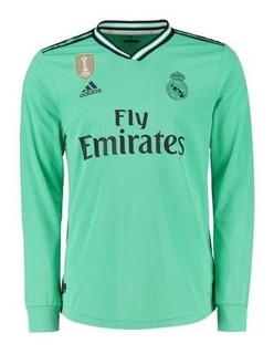 Real Madrid Mangas Longas 2020 - Hazard, Modric, Kroos, Isco