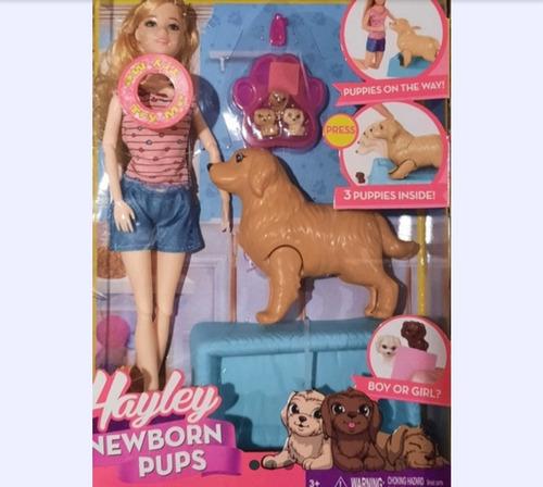 Muñeca Con Perros Tipo Simil 30 Cmm