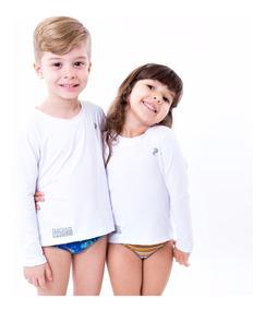 Kit 3 Camisas Infantil Proteção Uv Solar Radar Segunda Pele