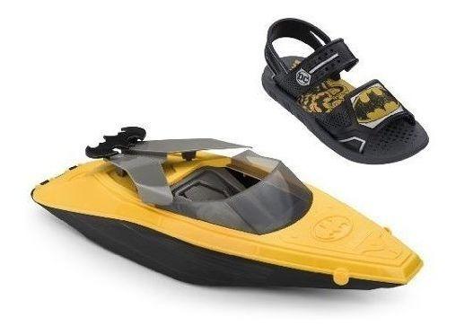 Sandalia Infantil Batman Boat Grendene