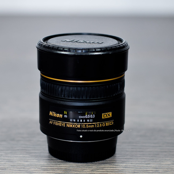 Lente Nikkor Nikon Fisheye Af Dx 10.5mm F/2.8g Ed (seminova)
