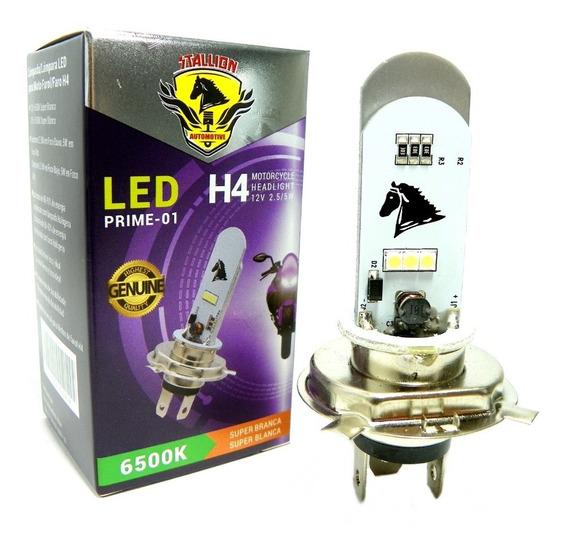 Lampada Farol Led H4 Moto Efeito Xenon Fazer Cb 300 Xre Cg