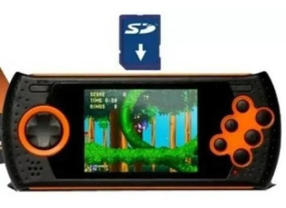 Cartão Sd Com + 600 Jogos Mega Drive Portátil Md Play