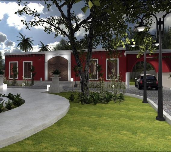Casa Tipo Quinta En Komchén Con Terreno 1,000m2 Y 4 Recámaras En Mérida,yucatán