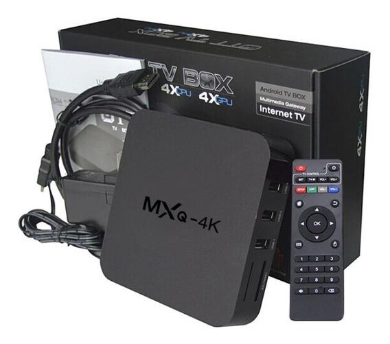 Kit Tv Box Ott Transforma A Sua Tv De Tubo Em Smart Android 8.1 + Cabo Rca + Adaptador Hdmi /rca