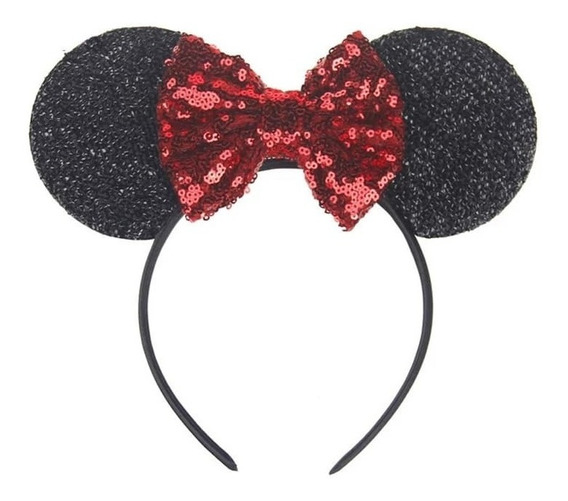 Diadema Orejas De Minnie Mouse Lentejuelas Niñas