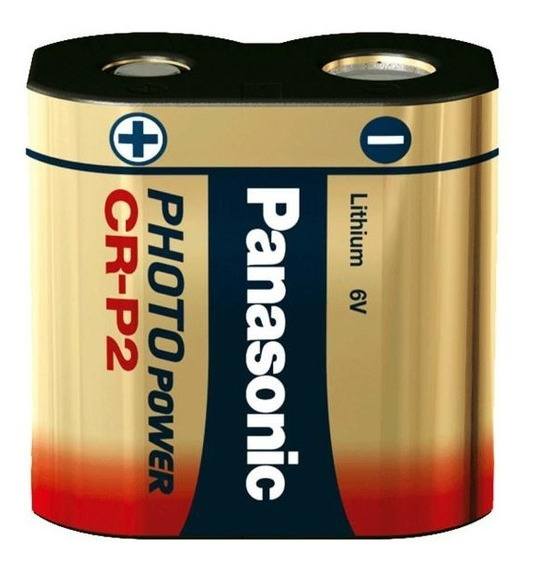 Cartela Bateria Pilha 6v Cr-p2 Crp2 Lithium Photo Panasonic